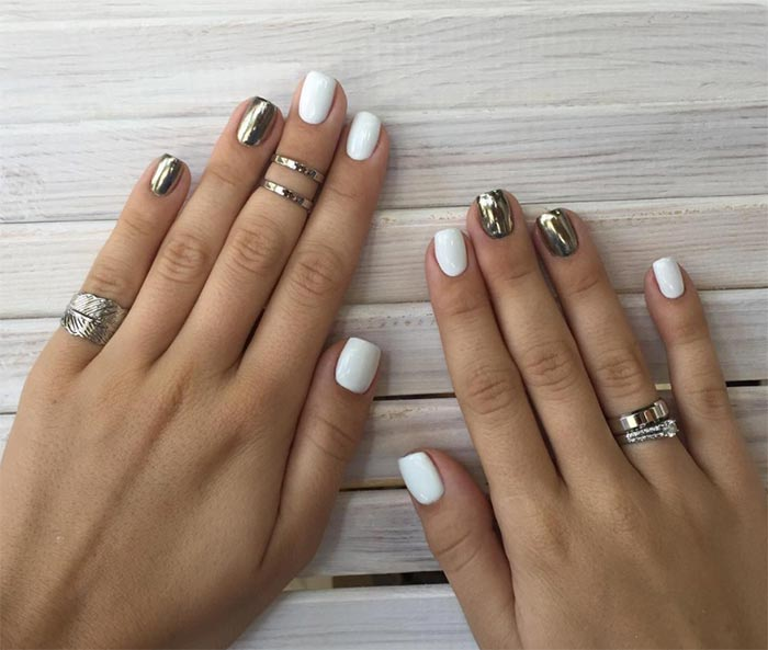gold-and-white
